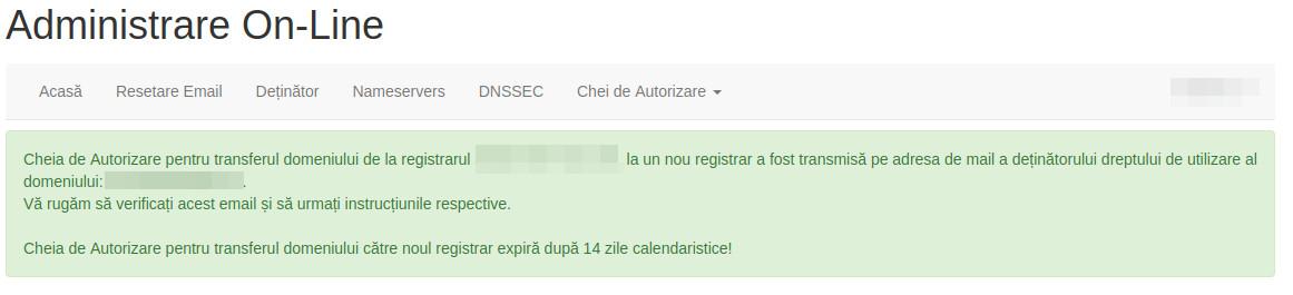 transfer domeniu .ro