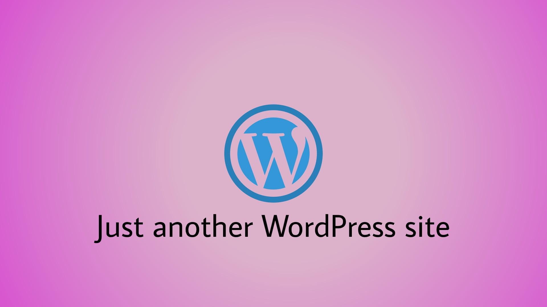 """Modificarea textului """"Just another WordPress site"""""""